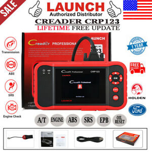 Launch Crp123 Engine Abs Srs Code Reset Car Diagnostic Scan Tool Obd2 Vii