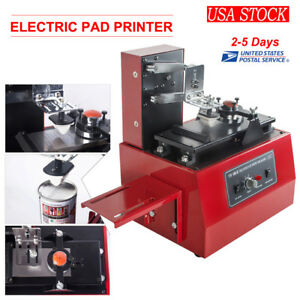 Desktop Electric Pad Printer Printing Machine For Logo Date Batch Number Label
