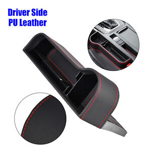 1pc Car Seat Crevice Box Storage Cup Holder Organizer Pocket Pu Leather Useful