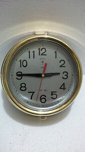 Maritime Vintage Marine Ship Brass Polaris Quartz Clock