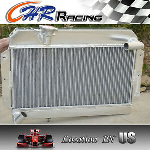 New 56 Mm Aluminum Radiator For Rover Mg Mga 1500 1600 1622 De Luxe