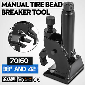 Manual Tire Bead Breaker Operates With Air Ratchet Wrenchtool Foot Pump