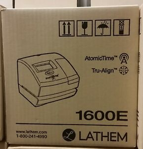 Lathem Time 1600e Wireless Atomic Time Recorder With Tru align Feature 1600e