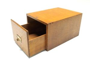 Vintage Weis Library Catalog File Drawer Box