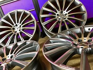 20 Inch Mercedes Gunmetal Edt Ml63 Rims Wheels Fits Ml350 Ml550 Gl450 Gl550 Amg