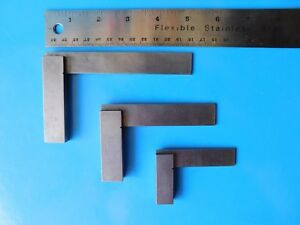 Vintage Moore Wright Precision Squares Set Of 3 Sheffield England