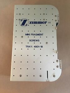 Zimmer Mini Fragment Surgical Tray Screw Storage Autoclave Case Veterinary