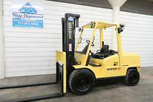 Hyster H120xm 12 000 Pneumatic Tire Forklift Diesel Three Stage Sideshift