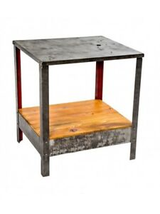 Four Legged Industrial Stationary Factory Machine Shop Table Or Work Stand