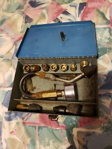 Vintage Compression Tester Marked Coilhose With Alot Of Adapters Box