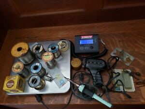 Vintage Mix Lot Solder Assorted Lot 10 Lbs With Guns Tested W Extras