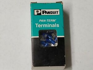 Panduit Dnf14 250 c Terminal Female Disconnect 0 25in Blue 100 Pc