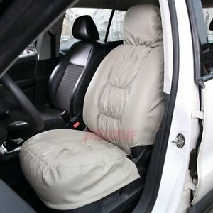 Puffed Down Pu Leather Car Seat Covers For Detachable Non detachble Car Seats