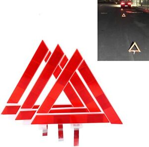 3 Pack Early Warning Triangle Collapsible Reflective Emergency Signal With Case