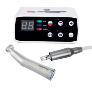Dental Electric Brushless Micro Motor Inner Water Contra Angle Handpiece Gift