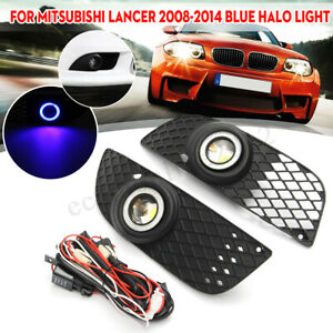 Clear Lens Halo Ring Fog Lights Lamps W wiring For Mitsubishi Lancer 2008 2014