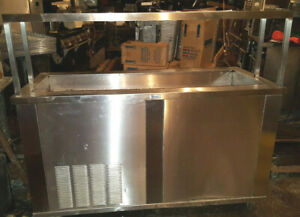 Seco Stainless Refrigerated Cold Food Pan Buffet Salad Bar Serving Cart Table