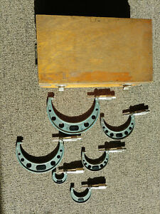 Mitutoyo 103 907a 0 6 0001 Micrometer Set 103 W wood Case