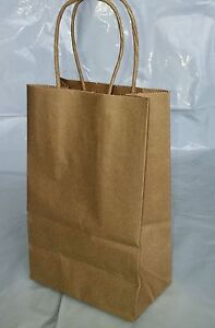 Paper Shopping Bags 100pcs Size 5 5x3 25x8 375 Brown Paper Handle Bags