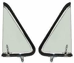 1955 Ford Pickup Vent Window Assemblies Ford Truck Stainless Clear