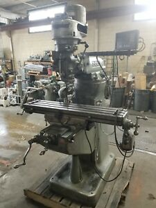 Bridgeport Milling Machine 1hp Servo Power Feed 42inch Table And Newall Dro
