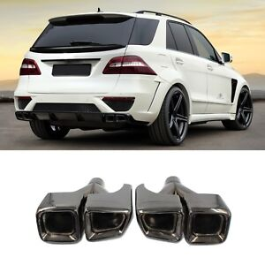 Black Quad Outlet Amg Style Exhaust Tips For Mercedes Benz Ml W164 W166 Gl X164