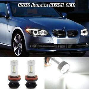 White 1200 Lumen 80w Seoul Led Angel Eye Halo Ring Marker H8 Light Bulb For Bmw