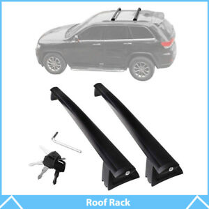 Black Roof Top Rack Cross Bar Cargo Carrier For 2011 2018 Jeep Grand Cherokee