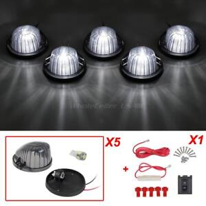 5xroof Running Round Smoke Cab Marker Light 5050 White 194 Led For Chevrolet Gmc