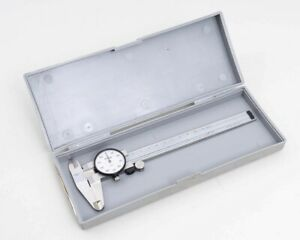 Mitutoyo 6 Inch Stainless Steel Dial Caliper 505 637 Carbide With Original Case