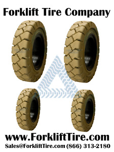 four Tires 2 650x10 Tire And 2 500x8 Tire Non Marking Solid Forklift Tires
