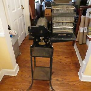 Multigraph No 60 Antique Vintage Printing Press W stamps Stand See Pics