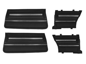 1966 Chevelle Malibu Supersport Pui Assembled Front Rear Door Panel Set Black