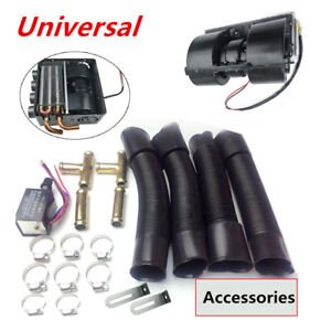 12v Universal Auto Underdash Compact Heater Kit 12x Copper Tube speed Switch Set