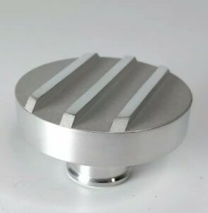 Finned Push In Oil Filter Cap Polished Satin Aluminum Chevy Ford Accessory