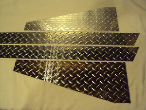 Jeep Diamond Plate Tj Wrangler 1997 2006 Large Front Fender And Rocker Covers