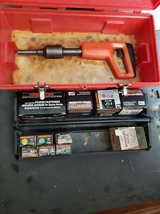 Remington 490 Powder Actuated Ramset Tool Fasteners Loads Tool Box