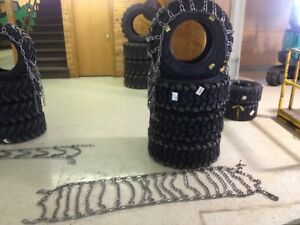 Skid Steer 12 16 5 Tire Chain Traction Snow Ice 12x16 5 2link Pair Case Hardened