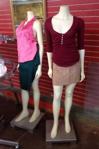 Vintage High End Store Display Headless Female Mannequins Full Body Dress Form