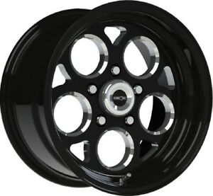 15 Inch 5 Lug 5x120 65 5x4 75 Black N Milled Rims 15x7 0mm Set Of 4 Wheels