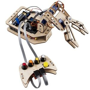 4 axis Diy Wooden Robotic Arm Kit
