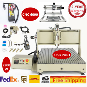 New 4axis 2200w Usbcnc Router Mill Engraving mini 2417 Engraver controller 6090