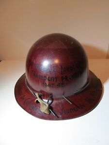 Vintage Msa Skullgard Hard Hat Val D or Gold Mine Mining Canadian Artifact