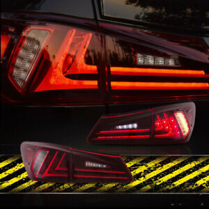 Vland For 2008 2012 Lexus Isf Taillights Led Rear Lamps Plug And Play Red Lens