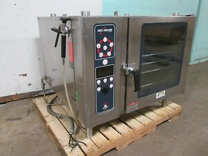 alto shaam Commercial H d 3ph Electric Combi Oven bakes steam dry combination