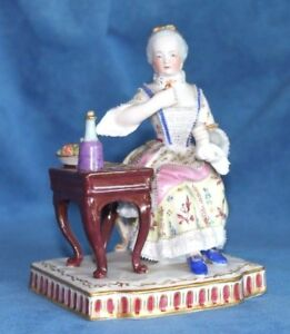 Antique Royal Vienna Beehive Kpm Dresden Lace Wine Fruit Cookies Senses Figure