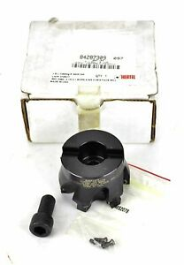 Hertel Indexable Square Shoulder Face Mill 2 1 2 X 1 Bore 6fl 0