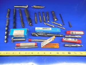 Lot Of New And Used But Sharp Machine Shop Tooling End Mills Taps Drills Hss