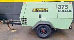 Sullair 375 Cfm Portable Air Compressor 2605 Hrs John Deere Engine work Ready