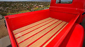 Early 1950 Ford Pickup Floor Kit Truck Red Oak Plain Steel Strips